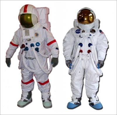Apollo space suit replicas